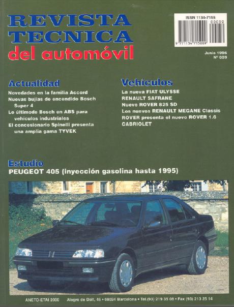 MANUAL TALLER RTA (español): PEUGEOT 405 inyección gasolina (hasta 1995) Captur49