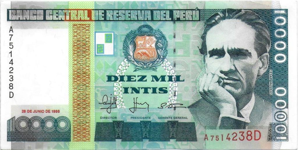 Diez mil Intis 1988 (Perú) 10000_10