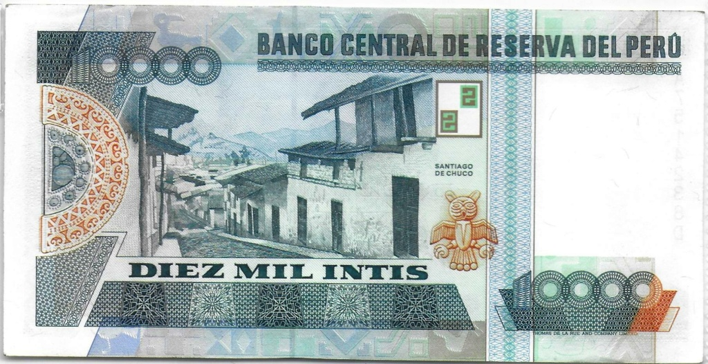 Diez mil Intis 1988 (Perú) 10000_11