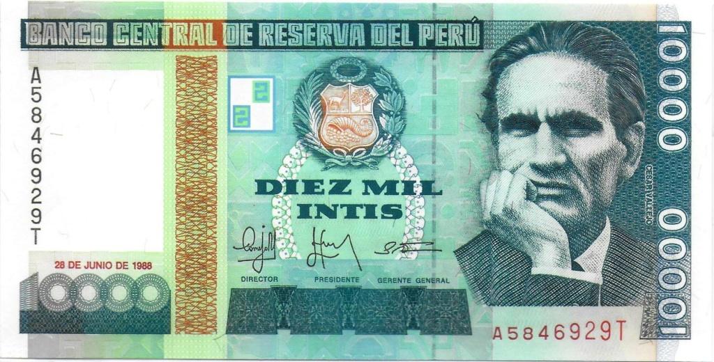 Diez mil Intis 1988 (Perú) 10000_12