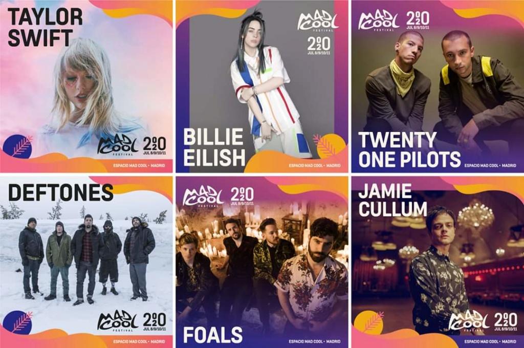 Mad Cool 2020. 8 - 11 Julio. Taylor Swift, Jamie Cullum, Finneas, Tones and I, Tove Lo, Alt-J... Fb_img14