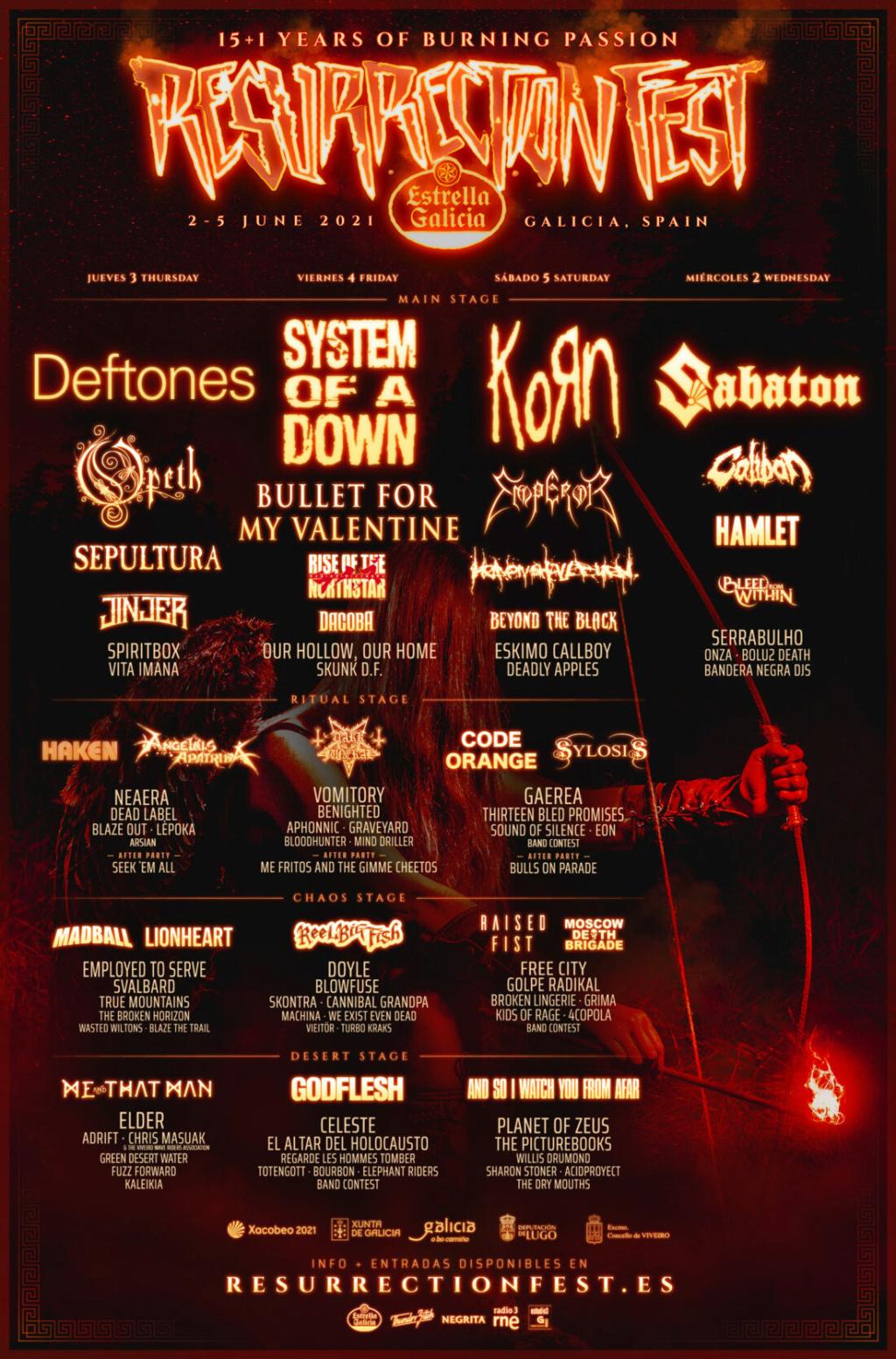 Resurrection Fest Estrella Galicia 2021. (2 - 5 Junio) System of a Down, Deftones, KoRn - Página 2 Resurr10