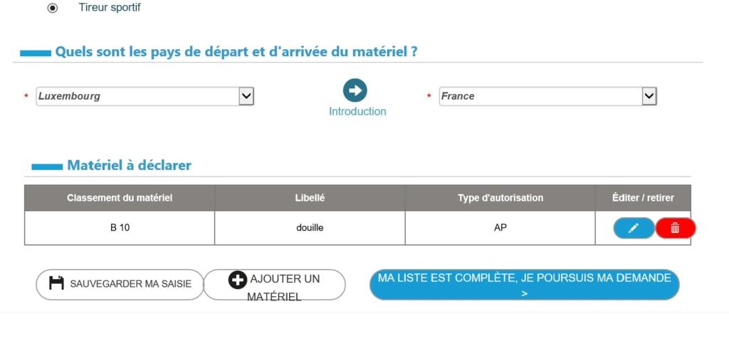Introduction/importation d'armes, de munitions, d'éléments: du nouveau! - Page 3 Douane10
