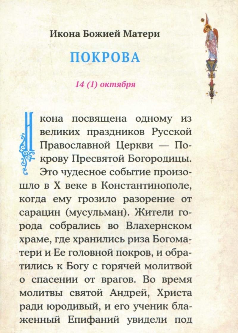 "ИКОНА БМ ""ПОКРОВА"" En110"