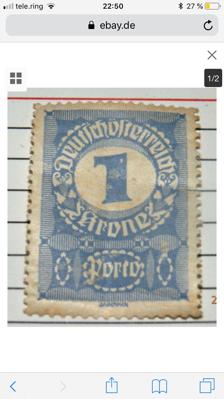 Deutsch Österreich 1 Krone Blau 18000 Euro Ce12df10