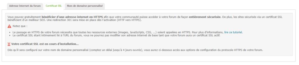 Le certificat SSL ne peut pas être activé Ssl10