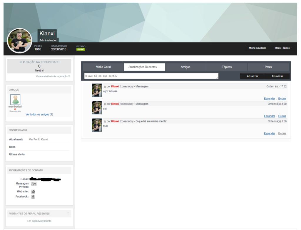 Perfil - Perfil IPB 4.x Screen13