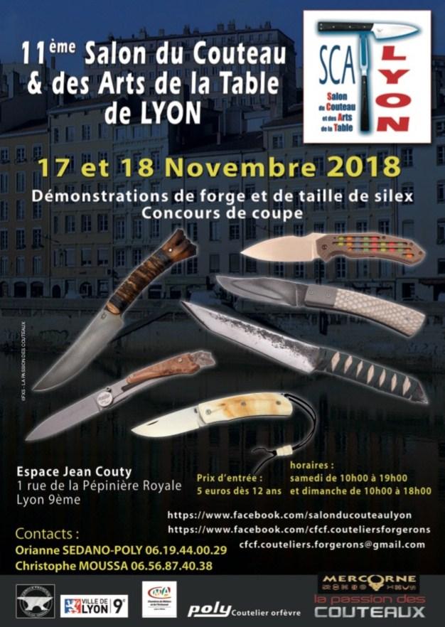 Salon du couteau de Lyon Affich11