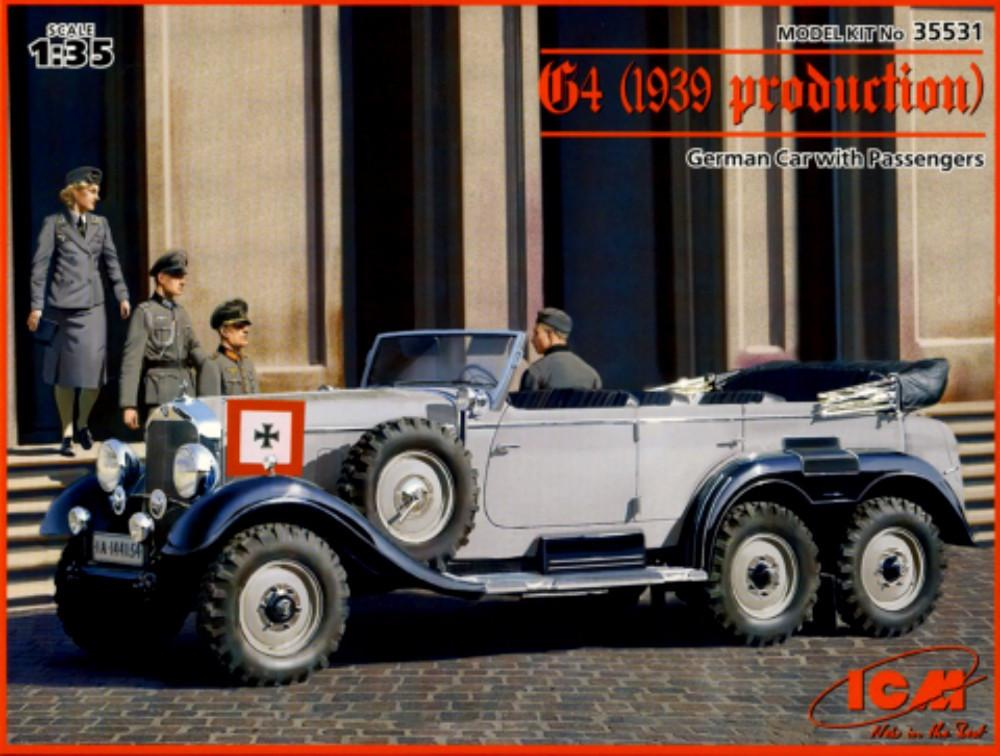 Voiture allemande G4- 1939 avec passagers Icm35510