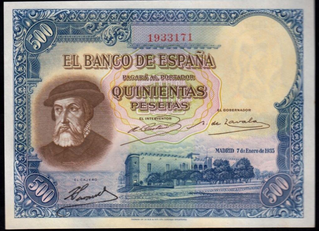 Estadísticas e Historia - 500 Pesetas 1935 (Hernán Cortés) - Página 4 19331710