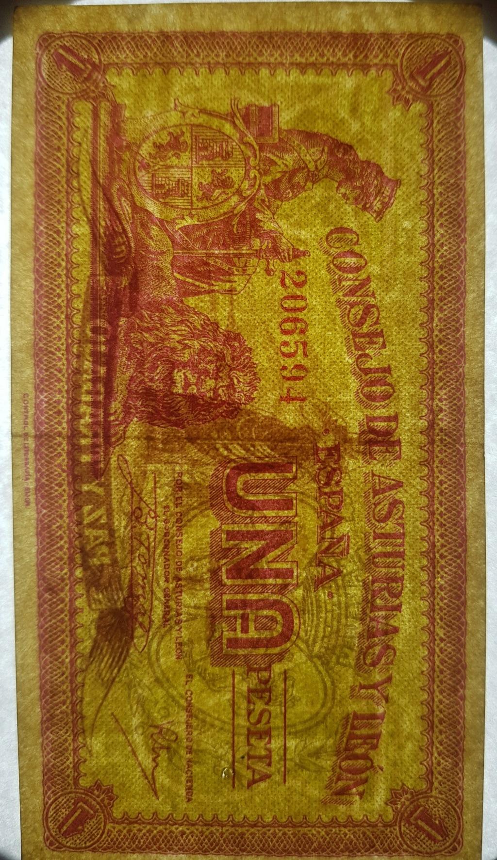 Billete Consejo de Asturias y León variante papel 1 peseta 20200513