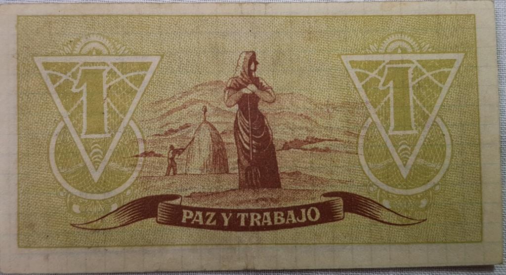 Billete Consejo de Asturias y León variante papel 1 peseta Asturi20