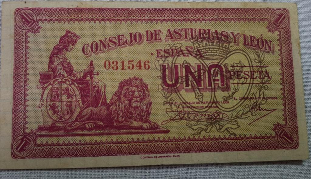 Billete Consejo de Asturias y León variante papel 1 peseta Asturi21