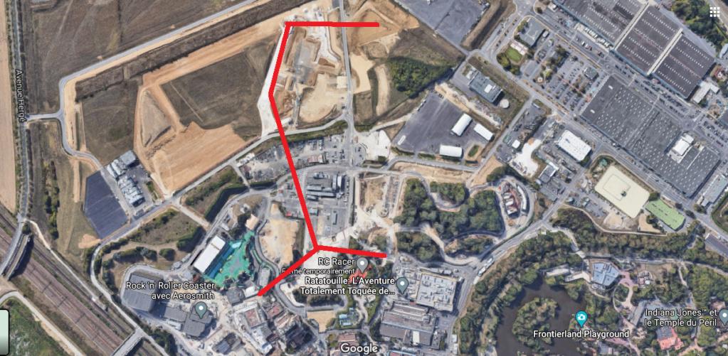 Extension du Parc Walt Disney Studios avec nouvelles zones autour d'un lac (2022-2025) Systzo10