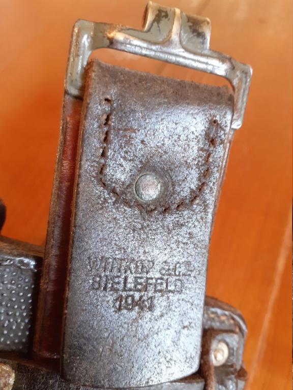 Identification marquages allemands ww2 ceinturon et cartouchieres  20210449