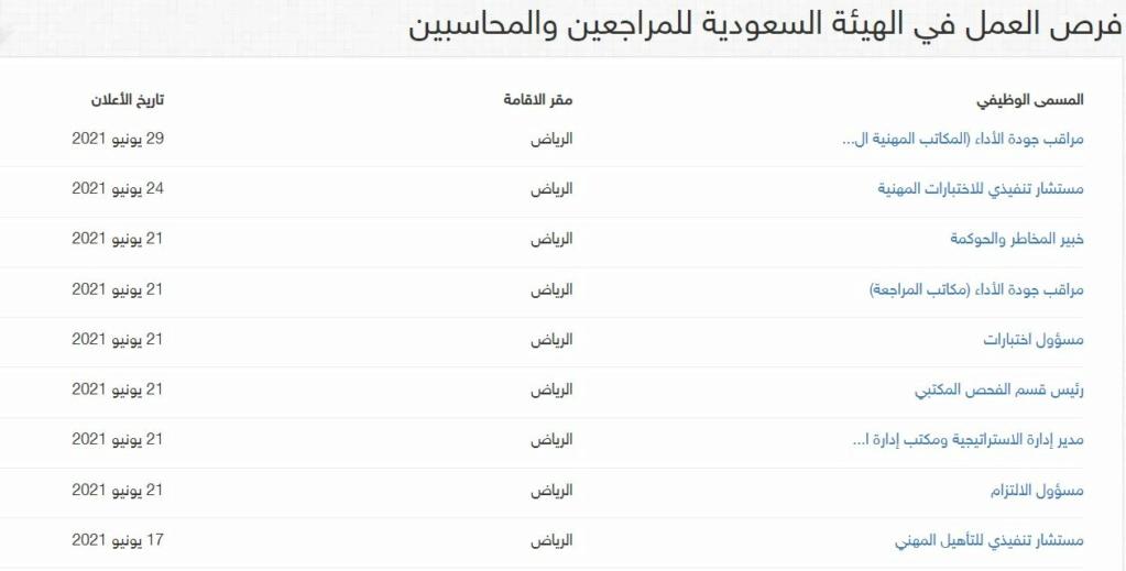 توفر 11 وظيفة إدارية للجنسين في الهيئة السعودية للمحاسبين والمراجعين Oo20