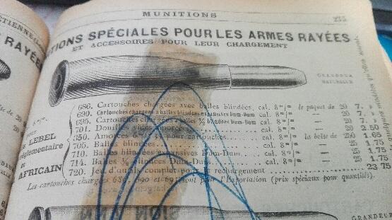 8 mm LEBEL ...de la Manufacture d'Armes et Cycles de St Etienne S_1010