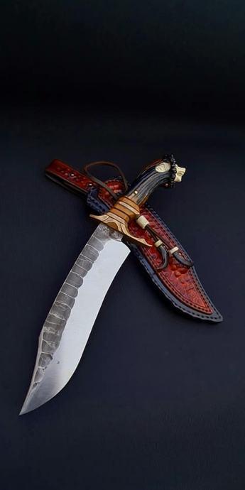 P: Bowie nož (ručni rad) Noz-ru10