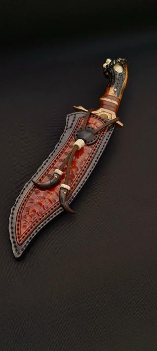 P: Bowie nož (ručni rad) Noz-ru12