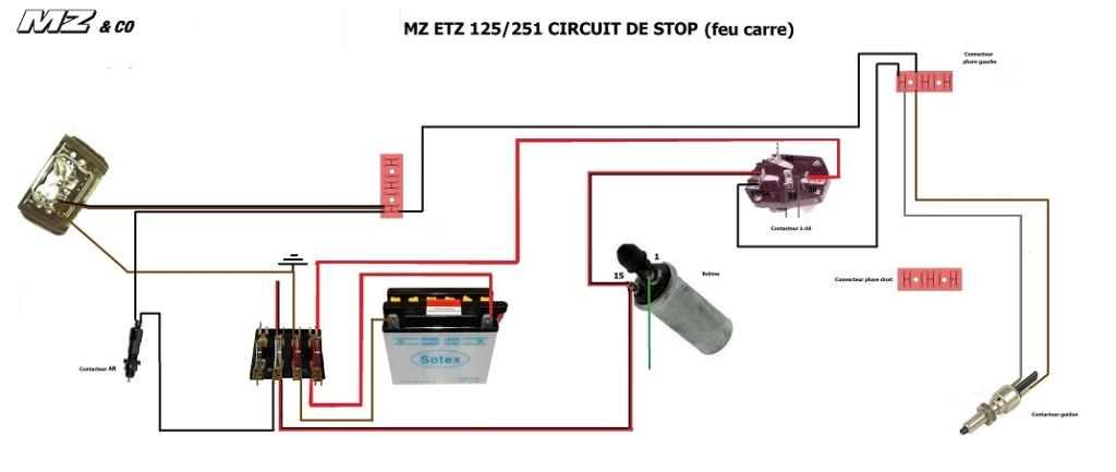contacteur de stop pour frein arriére Circgu12