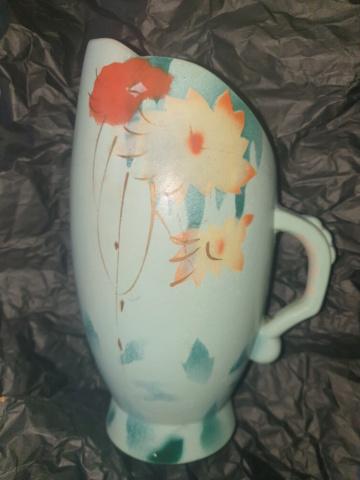 Deco turquoise jug? Any clues? 20210722