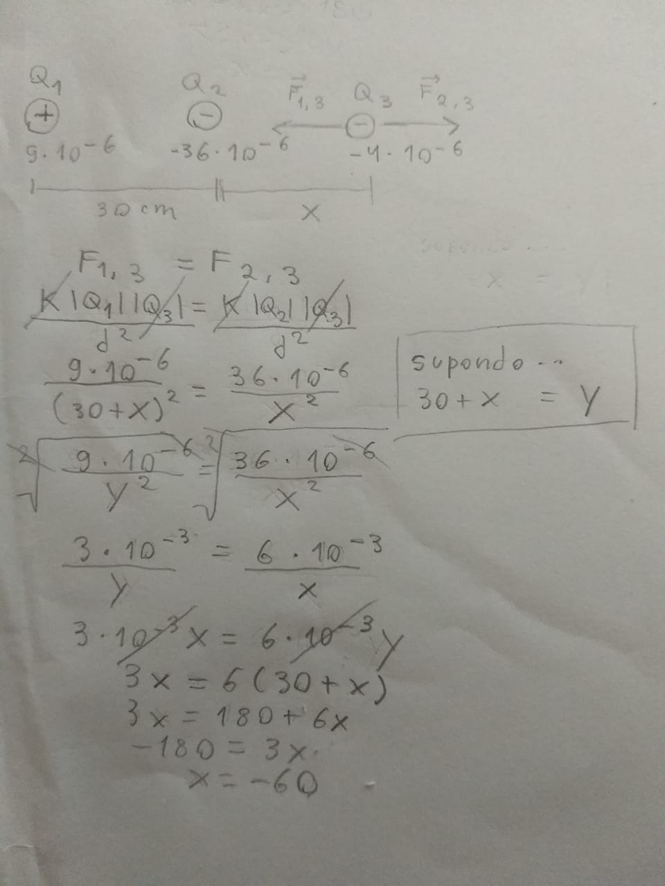 Questão de força elétrica Questa10