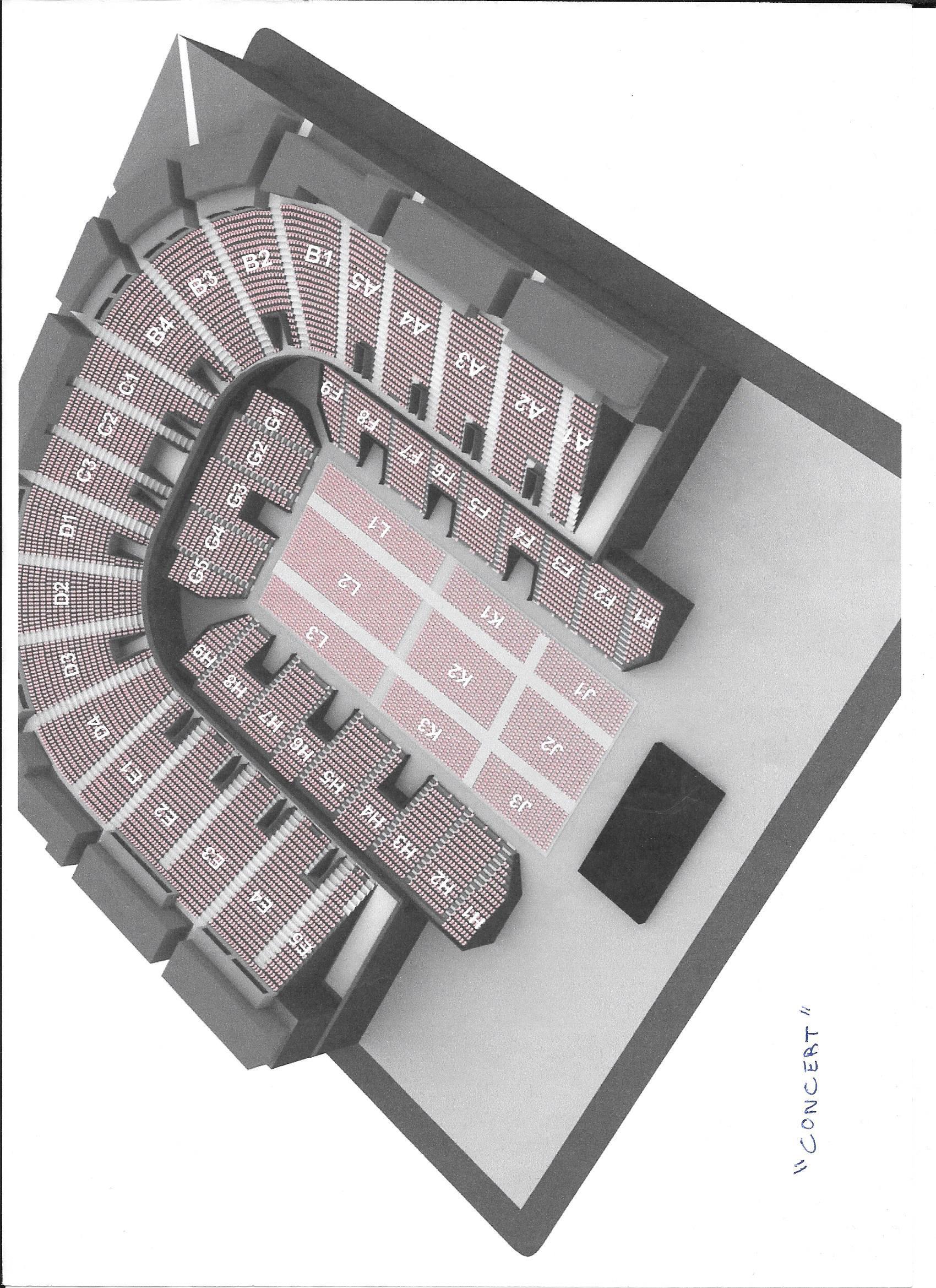 La salle : Sud de France Arena Plan_d12