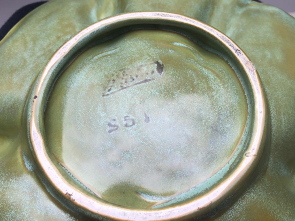 Leaf shaped dish - art nouveau?  Fc938b10
