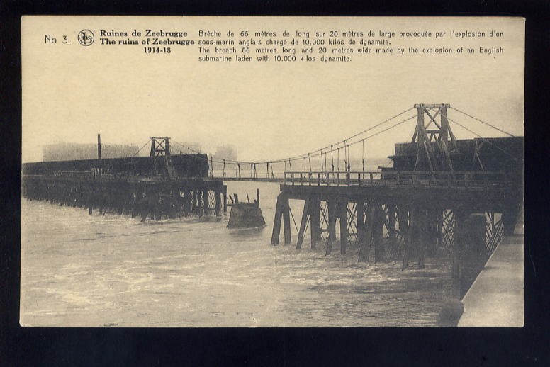 Souvenirs de Guerre : Zeebrugge 1918 Bay18410