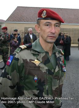 GAZEAU JOël Adjudant-chef  1er RPIMa mort au Champ d'Honneur le 23 mai 2006 en Afghanistan 1hariv10