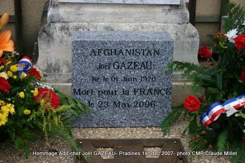 GAZEAU JOël Adjudant-chef  1er RPIMa mort au Champ d'Honneur le 23 mai 2006 en Afghanistan 1plaqu10