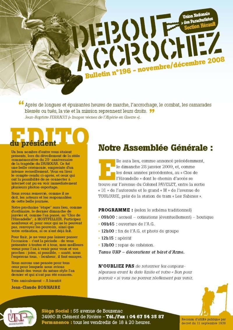 """UNP34 bulletin n°196 """"DEBOUT...ACCROCHEZ!"""" 2009_012"""