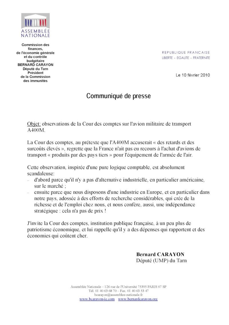 A400M contestation de notre camarade Bernard Carayon sur le rapport de la Cour des comptes A400m_11
