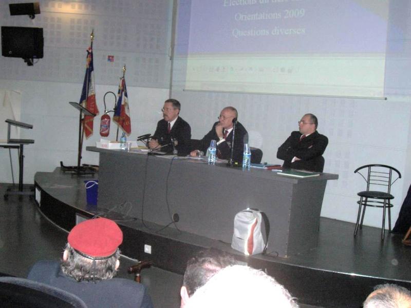 AG du 15 février 2009 de la section UNP Limoges en présence du Général Piquemal Bureau11