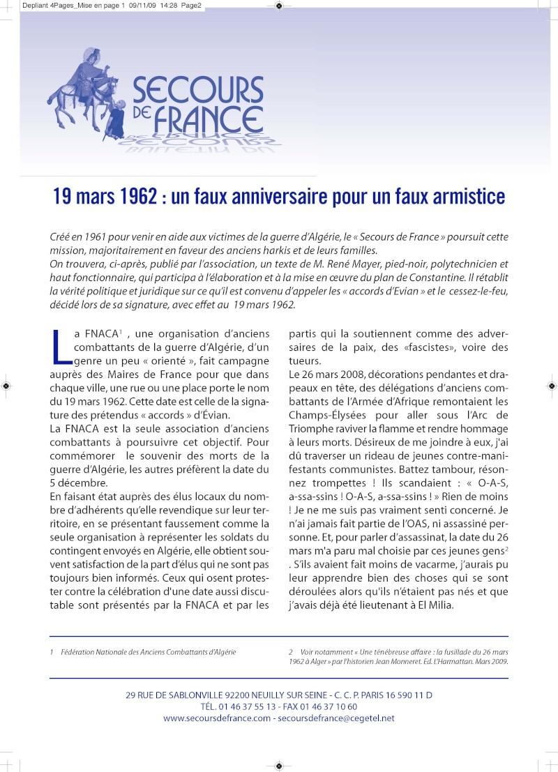 SECOURS DE FRANCE - 19 mars 1962 un faux anniverssaire pour un faux armistice Faux_a10