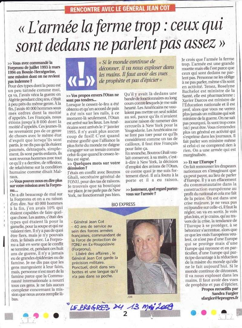 """""""L'armée la ferme trop: ceux qui sont dedans ne parlent pas assez"""" - Général Jean COT Ganara10"""