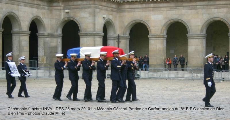Le NEPVOU de CAFORT Patrice - Médecin général - ancien du 8° B.P.C. Hommage aux INVALIDES 25 mars 2010 - reportage en ligne Invali10