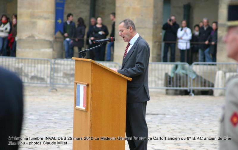 Le NEPVOU de CAFORT Patrice - Médecin général - ancien du 8° B.P.C. Hommage aux INVALIDES 25 mars 2010 - reportage en ligne Invali12