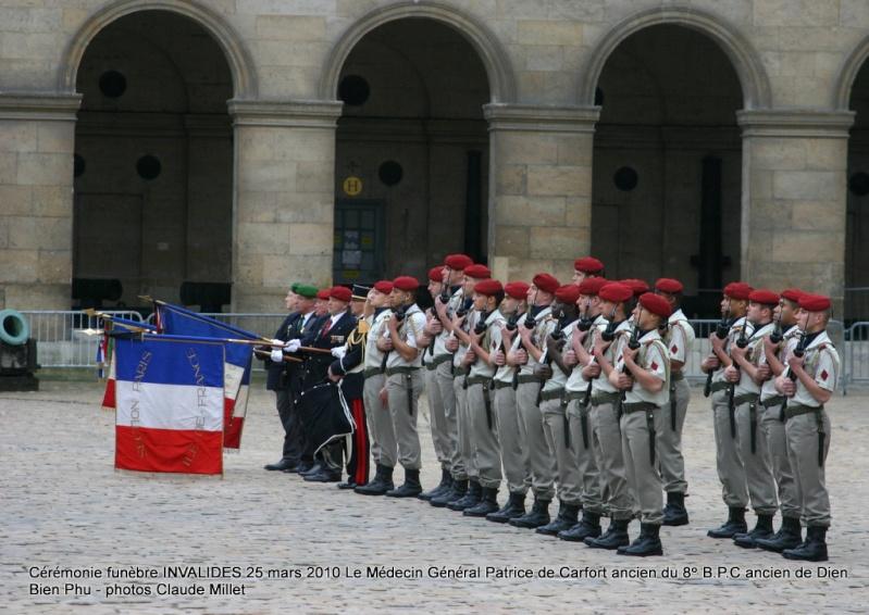 Le NEPVOU de CAFORT Patrice - Médecin général - ancien du 8° B.P.C. Hommage aux INVALIDES 25 mars 2010 - reportage en ligne Invali13