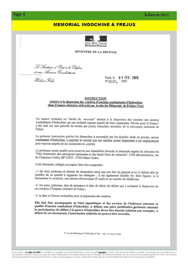 14 et 15 mai 2010 - CONGRES UNP à AUBAGNE à la Légion Etrangère La_let15