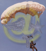 Drapeau des Commandos Parachutistes de l'Air Michel10
