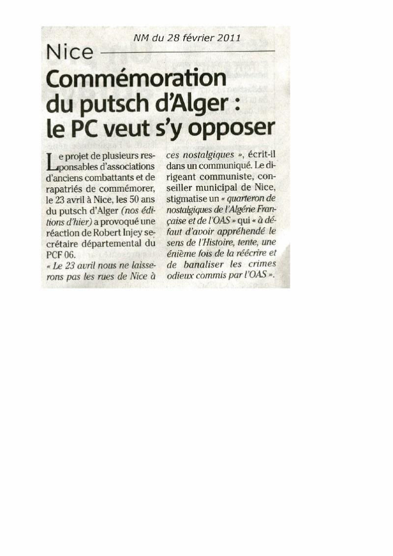 50 ans du Putsch d'Alger: ils veulent un hommage national... Nice-m10