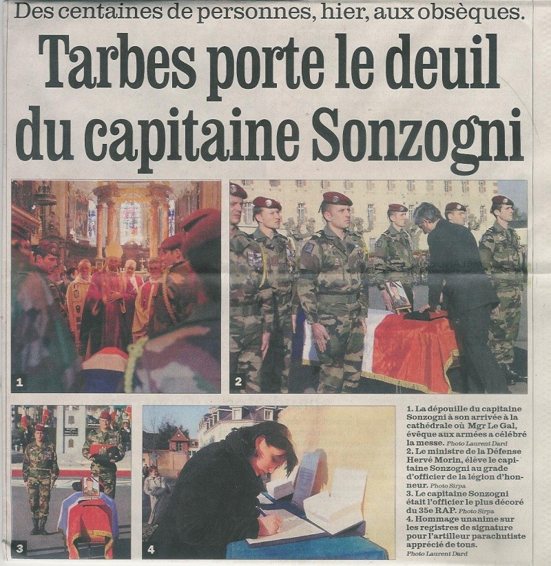 SONZOGNI Patrice Capitaine -35e RAP- Mort au Champ d'Honneur 11 fév 2009 en Afghanistan  Obsaqu12