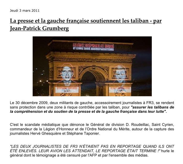 """Hervé Ghesqière et Stéphane Taponier: Les 2 """"touristes"""" farf Roudei11"""