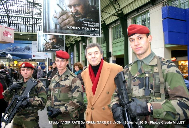 """3e RPIMa mission """"vigipirate"""" GARE DE LYON le 25 février 2010 Vigipi13"""