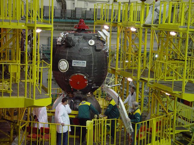 Le système d'éjection SAS du vaisseau Soyouz Mksep010