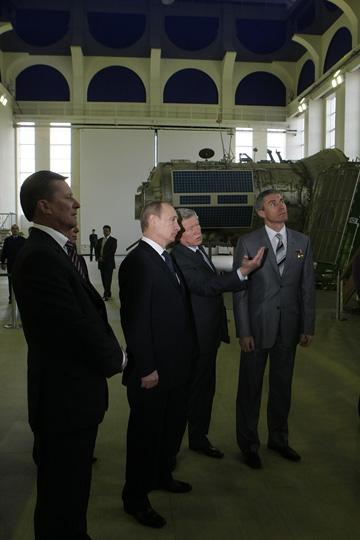 Poutine visite le centre de formation des cosmonautes T10
