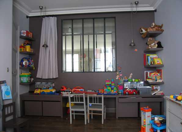 Bureau pour deux filles d co chambre fille c t maison am nagement chambre deux enfants 25 - Bureau pour deux enfants ...