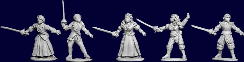 figurines de femmes en civil mais armées Bg-msw10
