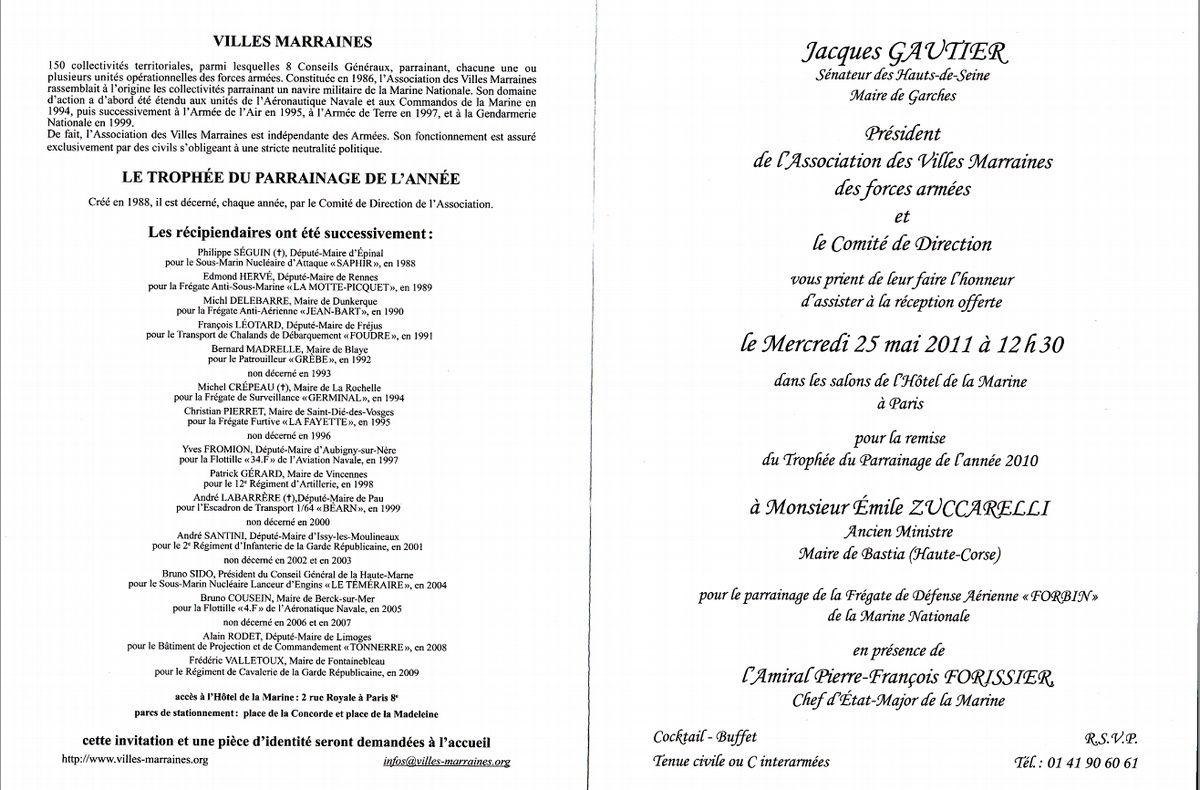 [Les traditions dans la Marine] Les Villes Marraines - Page 4 Invit110